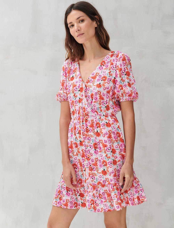 DITSY FLORAL MILA WRAP DRESS, image 5