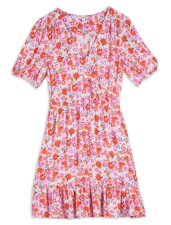 DITSY FLORAL MILA WRAP DRESS, image 6