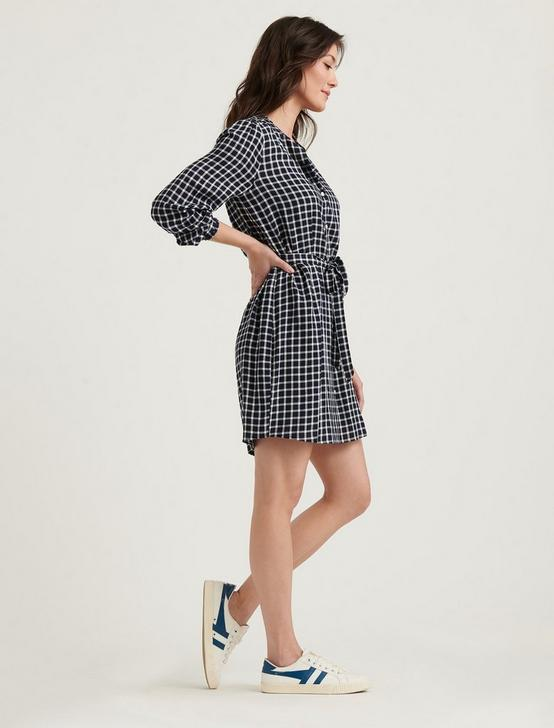 VIOLET SHIRT DRESS, NAVY MULTI, productTileDesktop