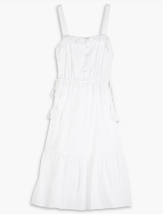 EYELET BEVERLY DRESS, LUCKY WHITE, productTileDesktop