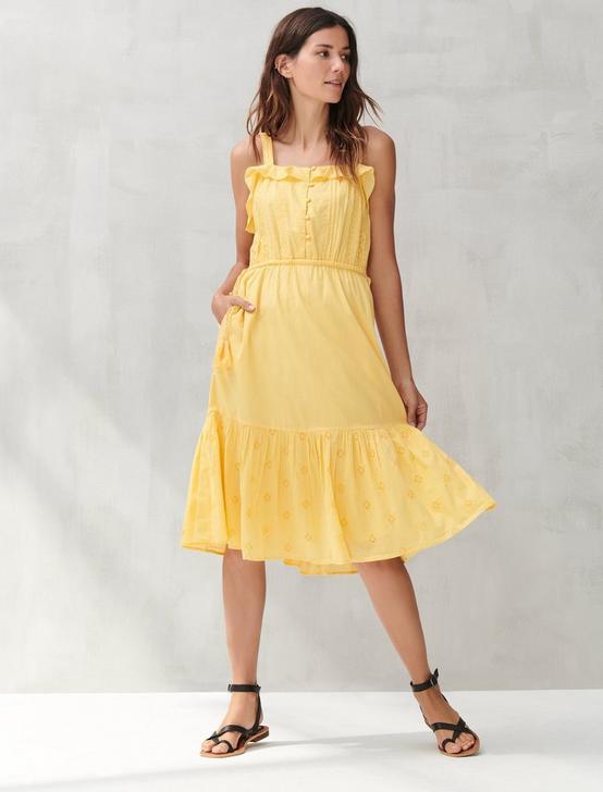 EYELET BEVERLY DRESS, SAMOAN SUN, productTileDesktop