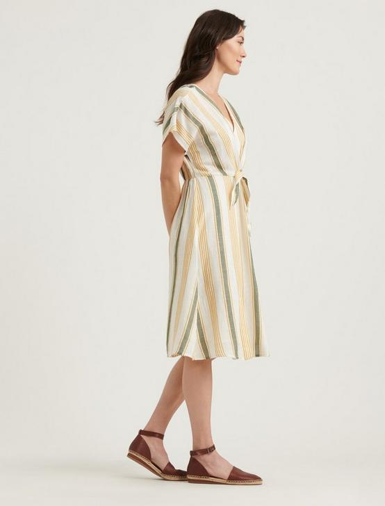 STRIPED SANDY DRESS, NATURAL MULTI, productTileDesktop
