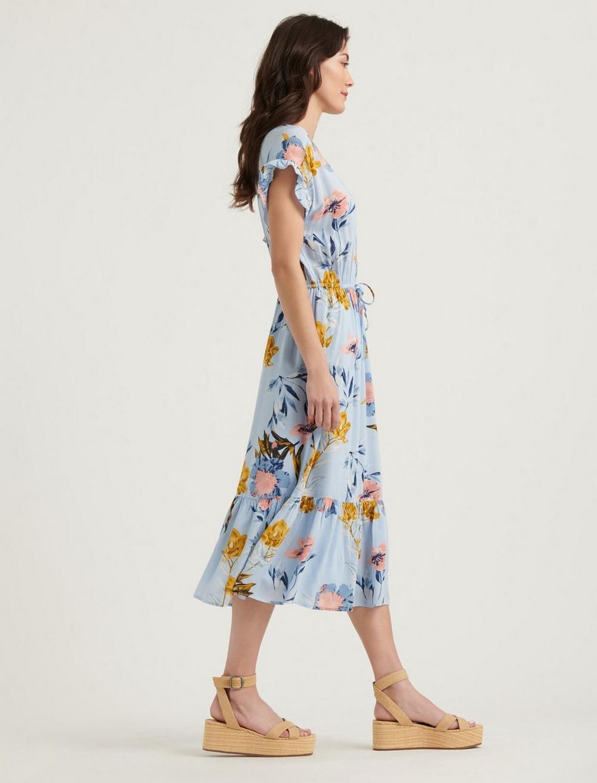FLORAL PRINTED SILVY DRESS, image 2