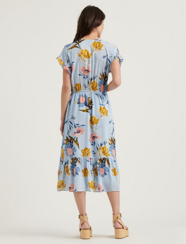FLORAL PRINTED SILVY DRESS, image 3