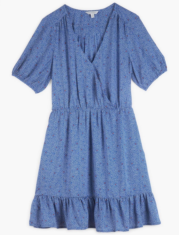 POLKA DOT MILA WRAP DRESS, image 2