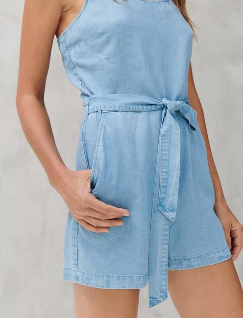 MONICA TENCEL ROMPER, LIGHT WASH
