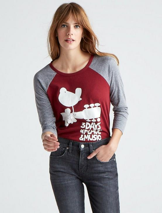 WOODSTOCK RAGLAN TEE, TAWNY PORT, productTileDesktop