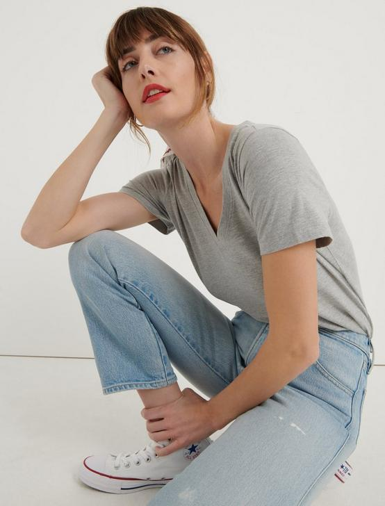 Venice Burnout V Neck, HEATHER GREY, productTileDesktop