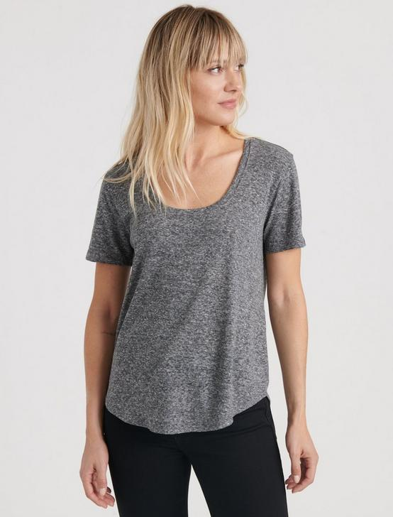 SCOOP NECK TEE, HEATHER GREY, productTileDesktop