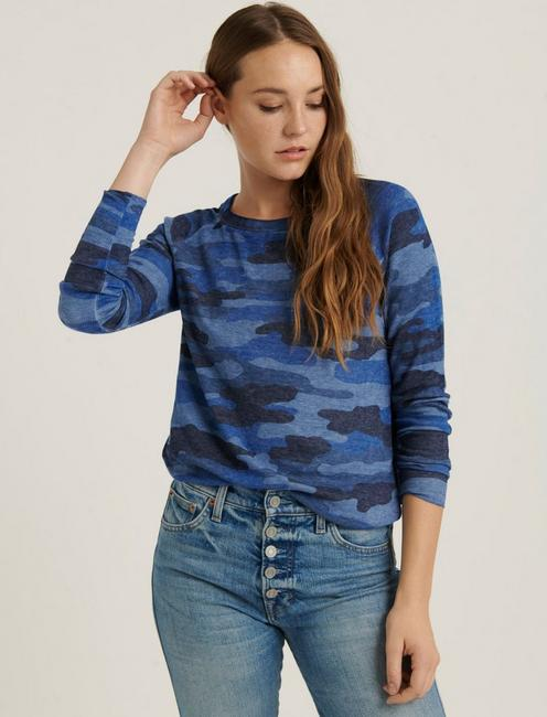 CAMO BURN OUT THERMAL, BLUE MULTI