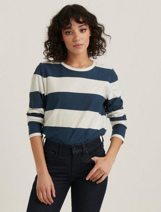 BOLD STRIPE TEE, BLUE STRIPE, productTileDesktop