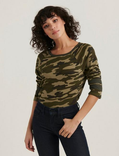CAMO ATHLETIC TEE, GREEN MULTI
