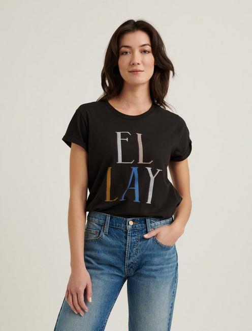 EL LAY CREW TEE, BLACK MOUNTAIN