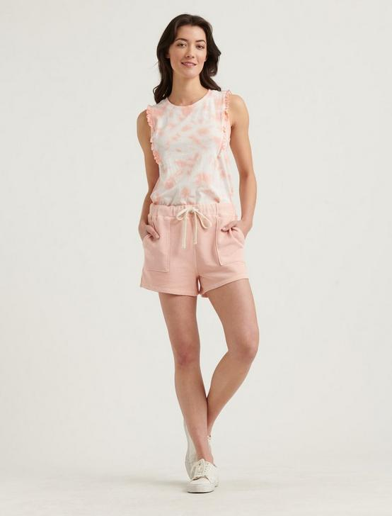 RUFFLE TANK, PEACH MULTI, productTileDesktop