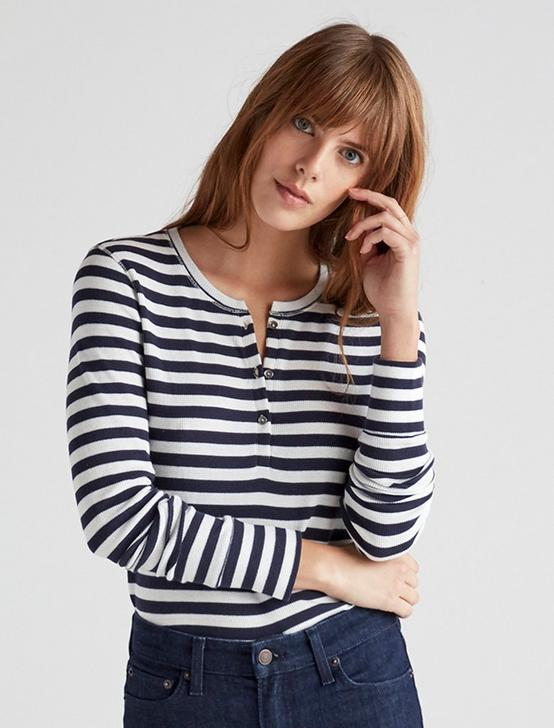 STRIPED HENLEY TEE, NAVY STRIPE, productTileDesktop