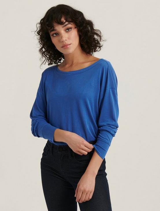 SAND WASH LONG SLEEVE TEE, BLUE, productTileDesktop