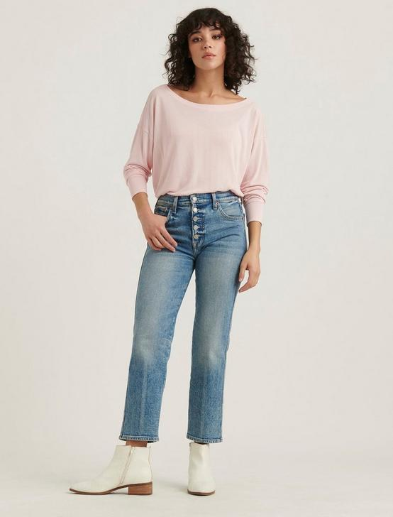 SAND WASH LONG SLEEVE TEE, PINK, productTileDesktop