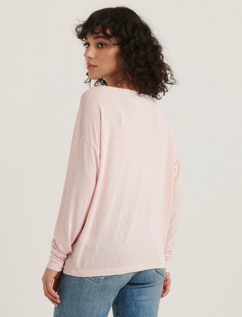 SAND WASH LONG SLEEVE TEE, PINK