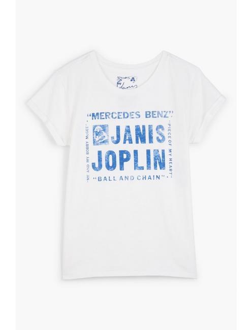 JANIS JOPLIN TEE, LUCKY WHITE