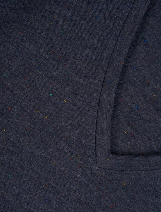 SPECKLED V NECK TEE, NAVY MULTI, productTileDesktop