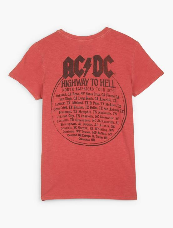 ACDC HIGHWAY TO HELL TEE, #6680 FIERY RED, productTileDesktop