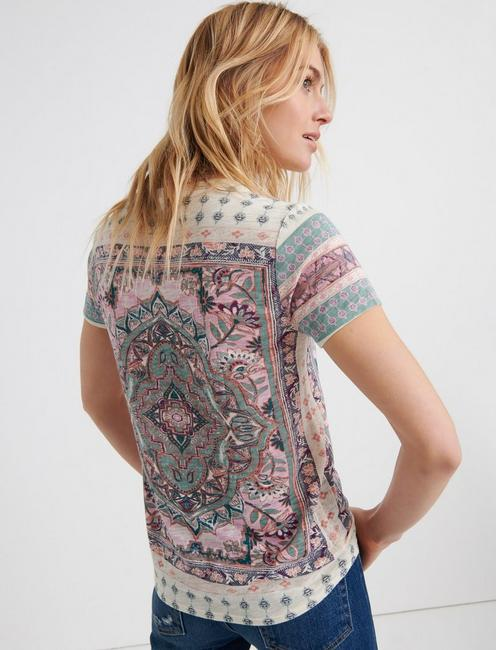 FLORAL PAISLEY ALLOVER TE, LUCKY WHITE