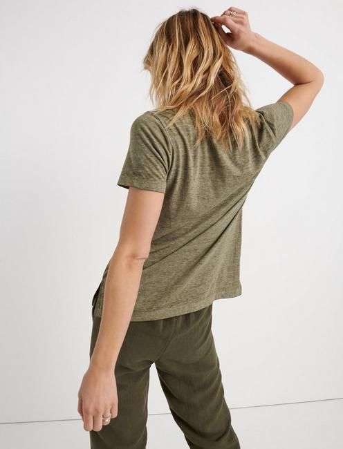 Venice Burnout V Neck, IVY GREEN