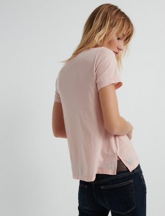 Venice Burnout V Neck, ROSE SMOKE, productTileDesktop