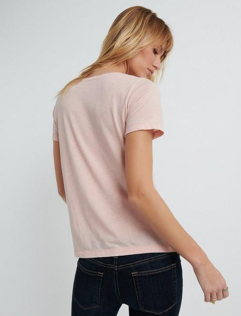 Venice Burnout V Neck, ROSE SMOKE