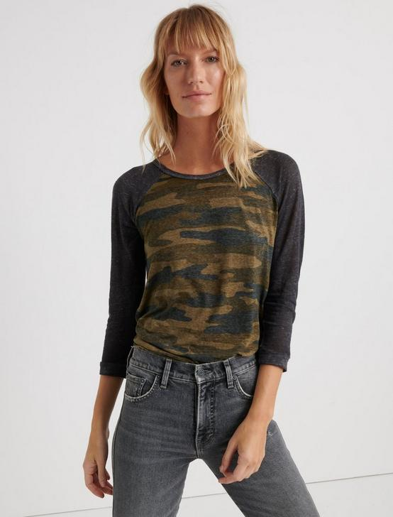 CAMO BASEBALL TEE, GREEN MULTI, productTileDesktop