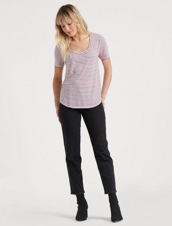 SCOOP NECK STRIPED TEE, MARSHMALLOW MULTI, productTileDesktop