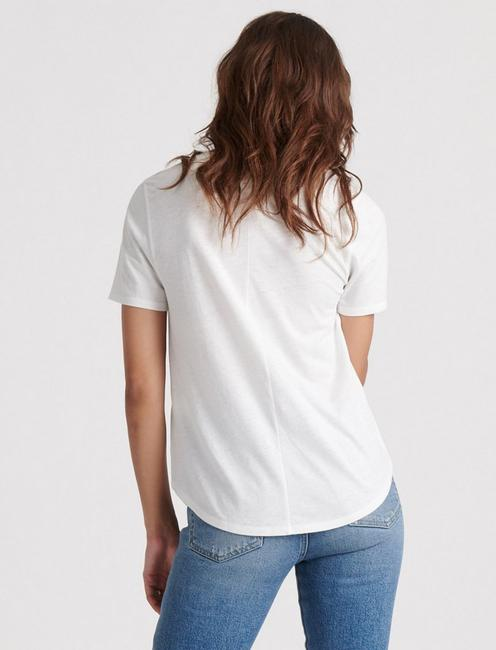 BURNOUT SCOOP NECK TEE, LUCKY WHITE