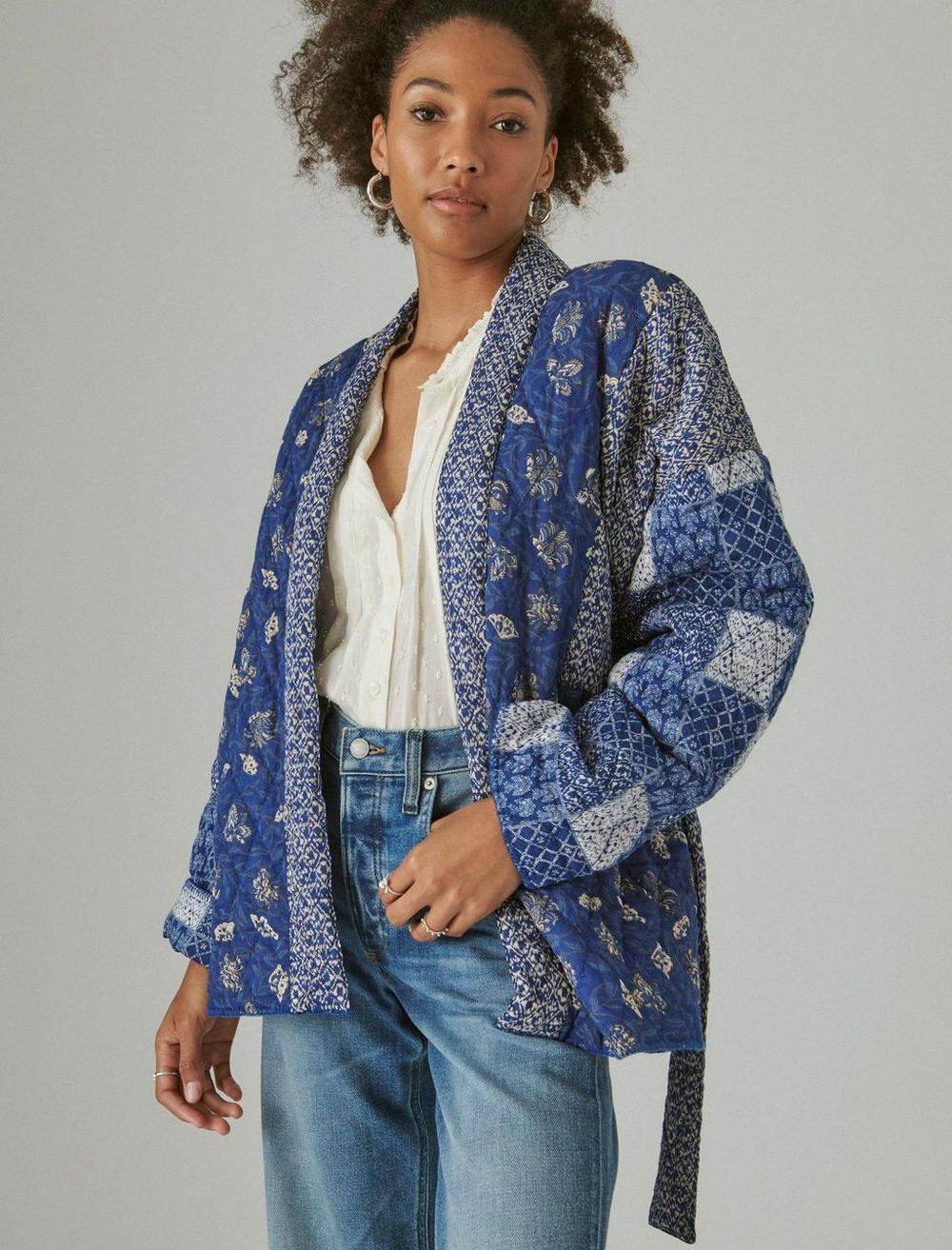 PATCHWORK QUILTED KIMONO, image 1