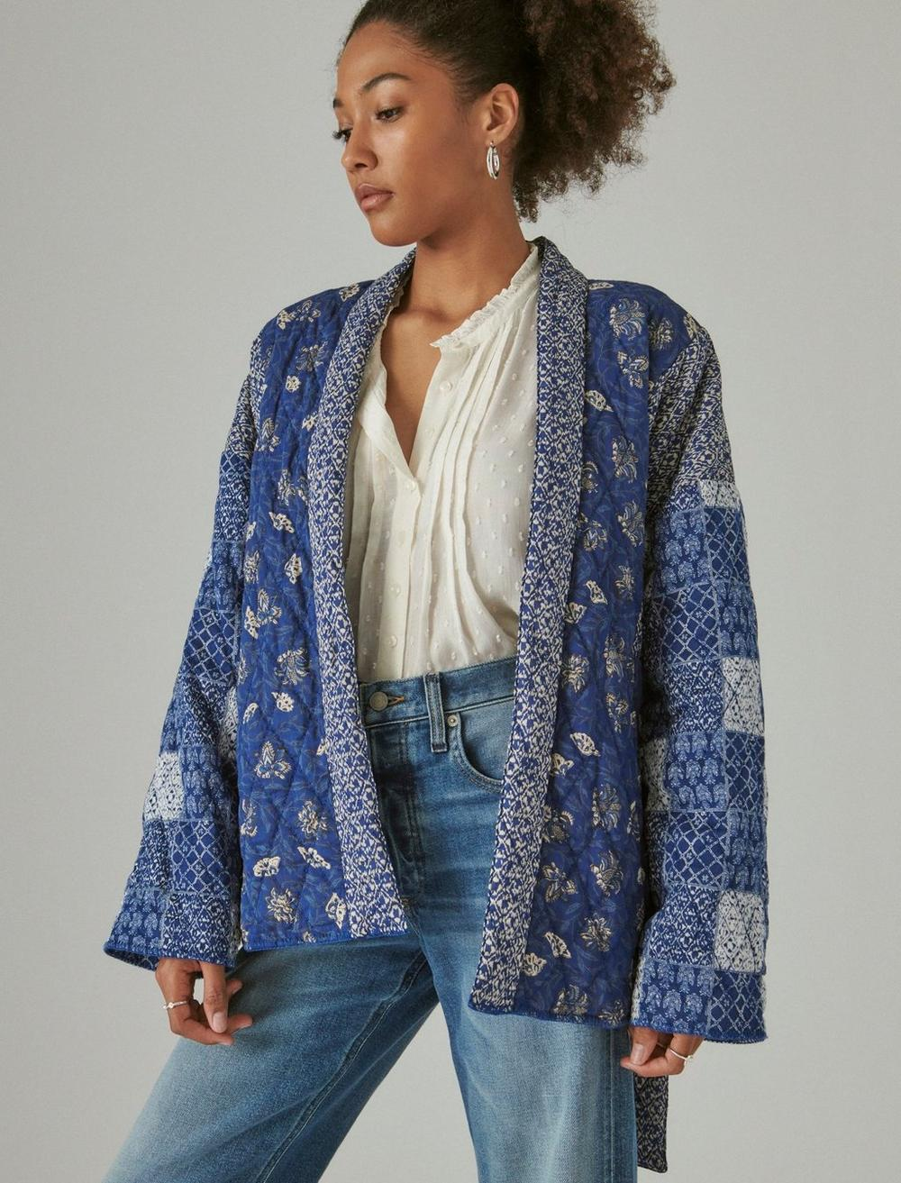 PATCHWORK QUILTED KIMONO, image 3