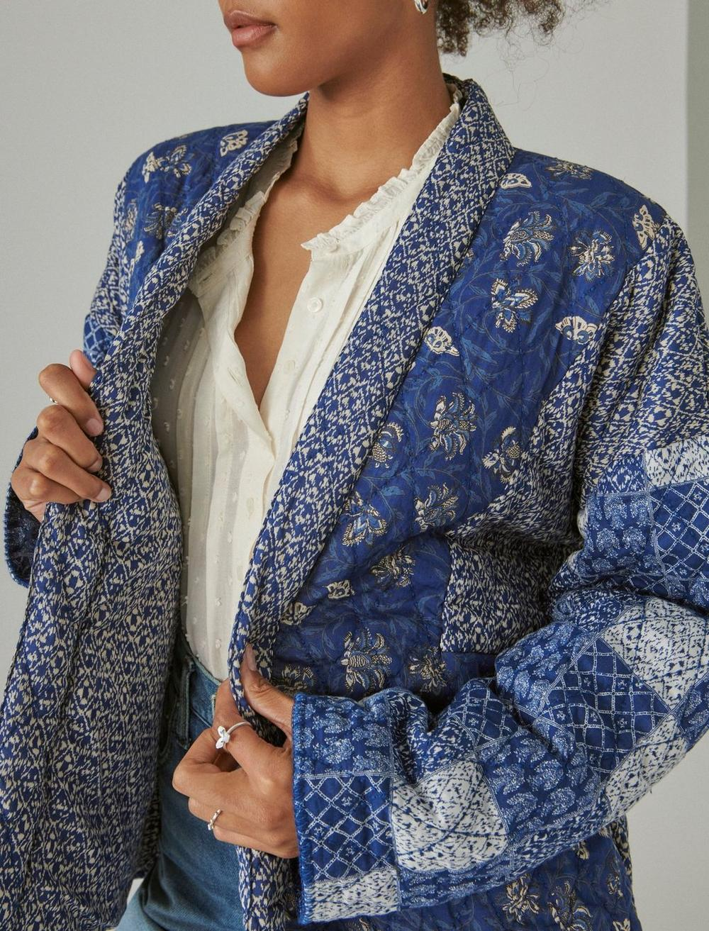 PATCHWORK QUILTED KIMONO, image 5