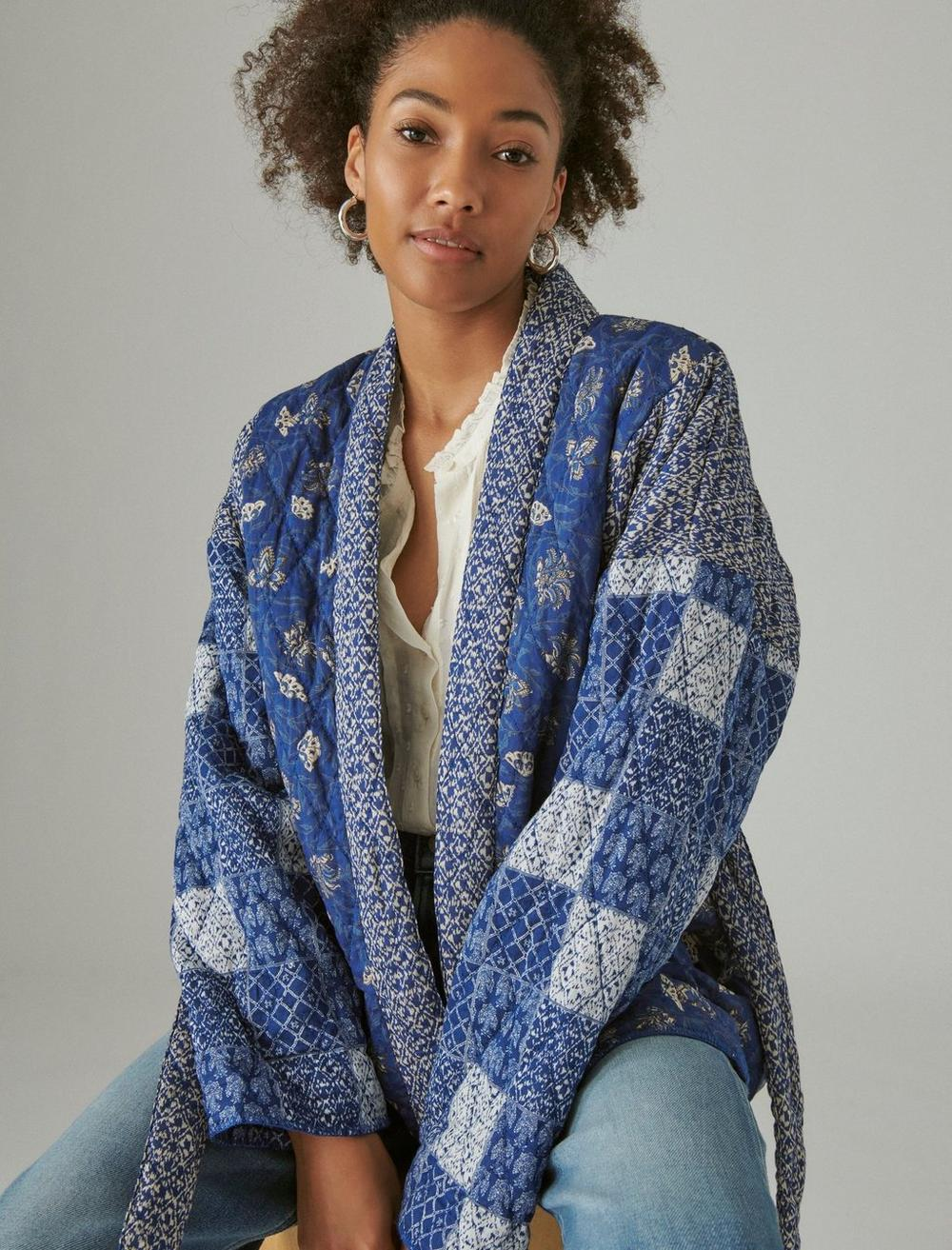PATCHWORK QUILTED KIMONO, image 6