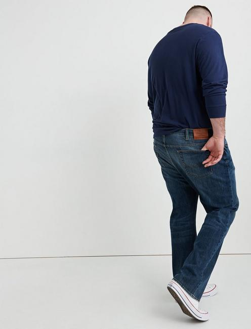 181 RELAXED STRAIGHT BIG & TALL JEAN, MAHOGANY