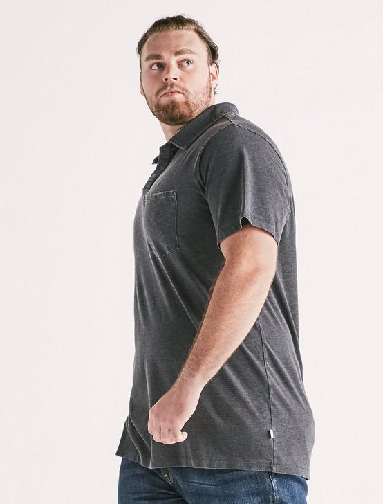 Big and Tall Burnout Polo, JET BLACK, productTileDesktop