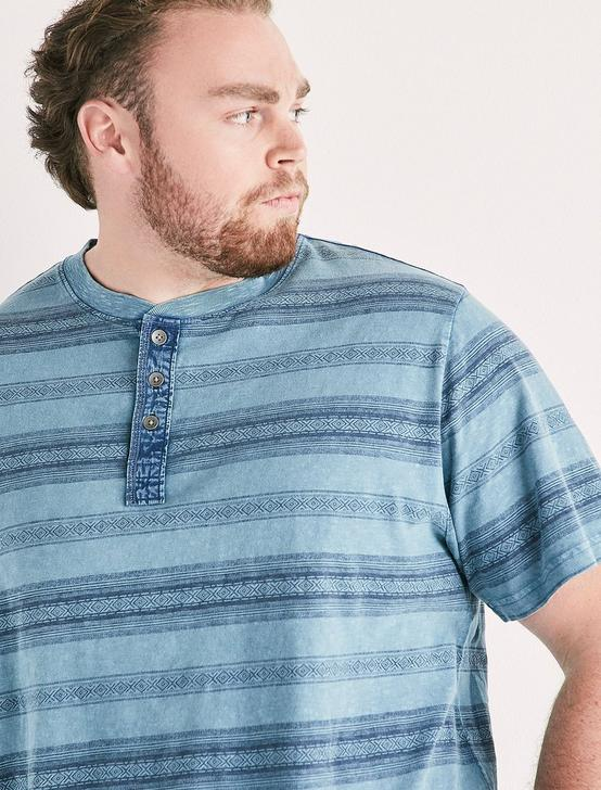 Big and Tall Novelty Henley Tee, MULTI, productTileDesktop