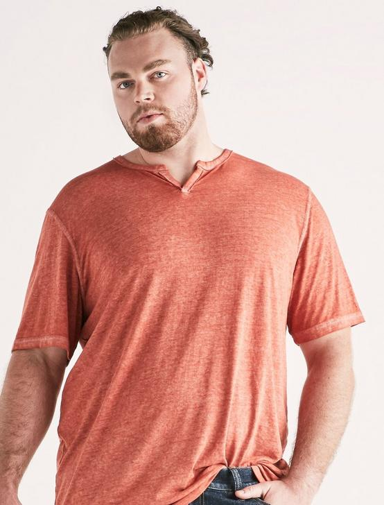 Big and Tall Venice Burnout Notch Tee, BARN RED, productTileDesktop