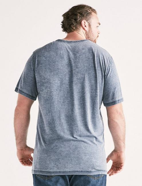 Big and Tall Venice Burnout Button Notch Tee, AMERICAN NAVY