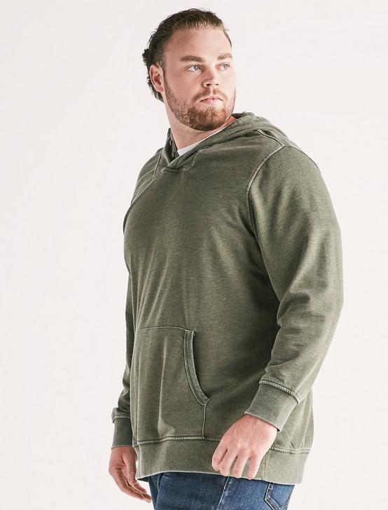 Big And Tall Burnout Hoodie