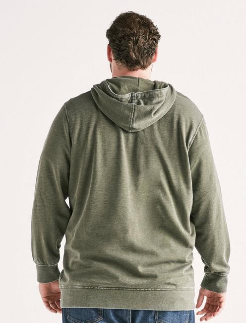 Big and Tall Burnout Hoodie, SPRING OLIVE