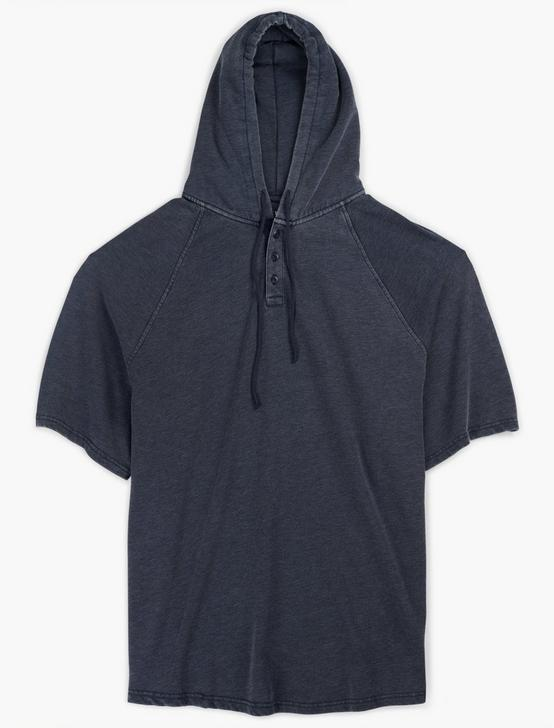 VENICE BURNOUT SHORT SLEEVE HOOD, AMERICAN NAVY, productTileDesktop