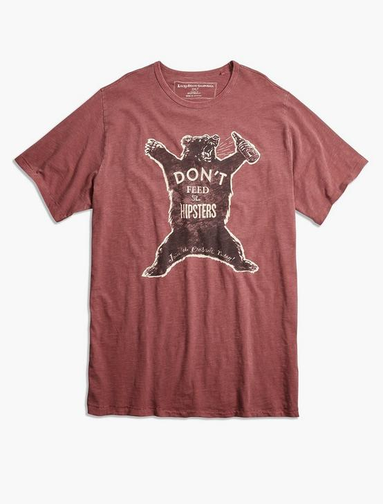 Big and Tall Hipster Bear Tee, BOSSA NOVA, productTileDesktop