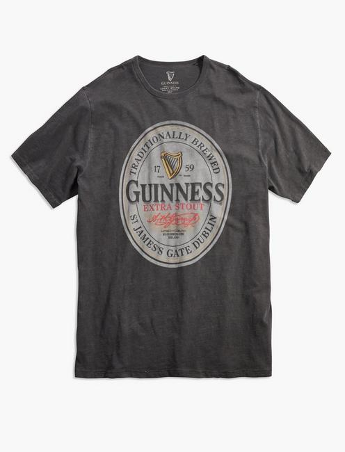 Big and Tall Guinness Oval Tee, JET BLACK