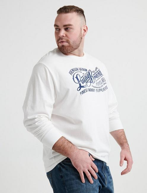 BIG AND TALL LUCKY PREMIUM TEE, BRIGHT WHITE