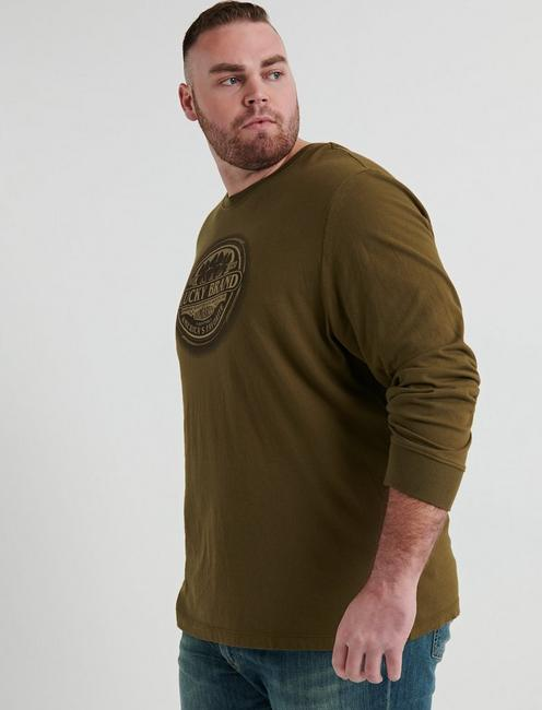 BIG AND TALL LUCKY TIN TEE, DARK OLIVE