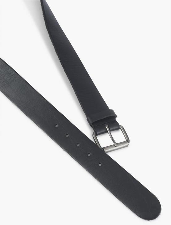BASIC LEATHER BELT, BLACK, productTileDesktop