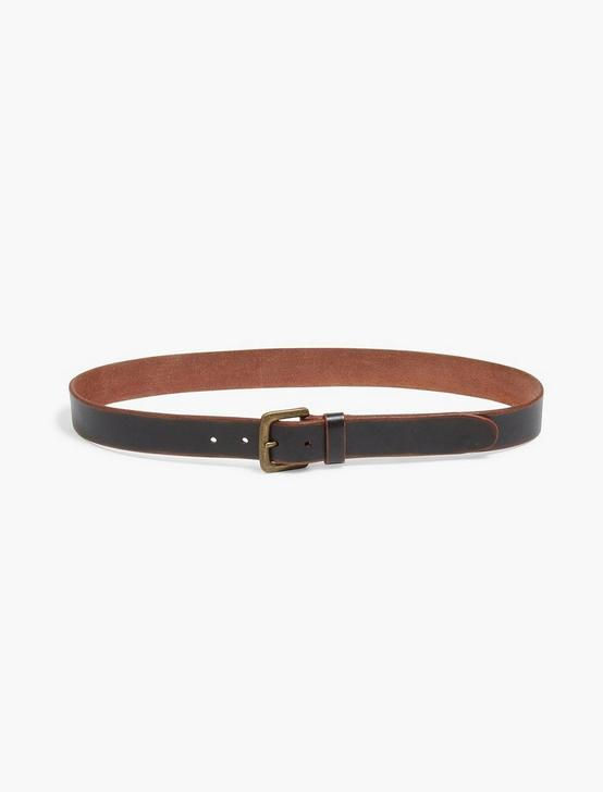 SANTA FE LEATHER BELT, BLACK, productTileDesktop